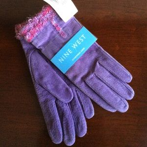 Nine West Purple Suede Women's XL Gloves
